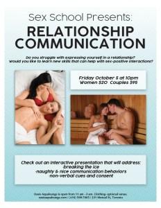 Sex School presents Relationship Communication