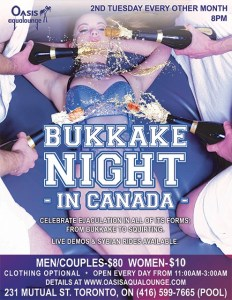 Bukkake Night in Canada