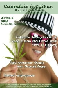 Cannabis & Coitus; Puff Puff Pleasure