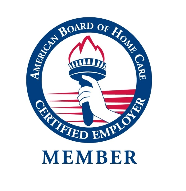 "Logo that reads ""American Board of Home Care Certified Employer Member"""
