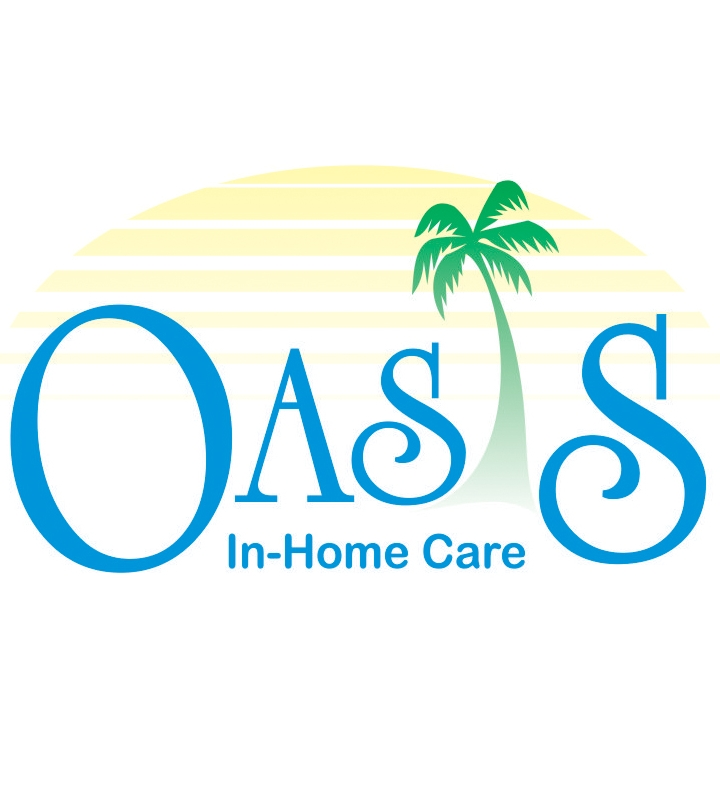Oasis In-Home Care logo with palm tree