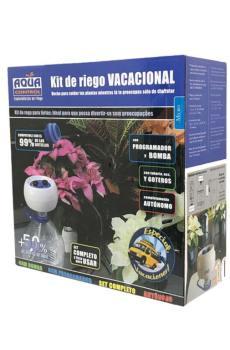 kit de riego vacacional por goteo aqua control