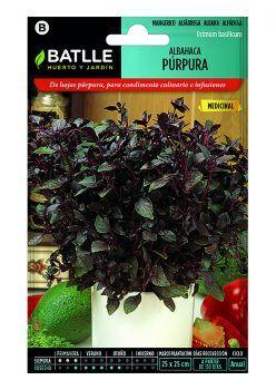 Semillas Albahaca Púrpura Batlle