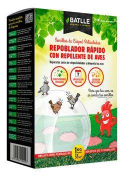 Semillas Césped Repoblador Rápido Repelente Aves 1kg Batlle