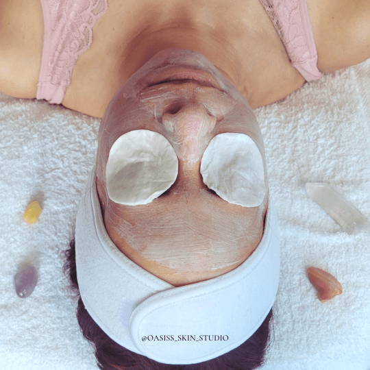 A woman ponders when she should receive her next facial.