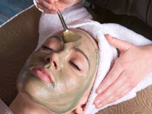 Facial Masque Being Applied