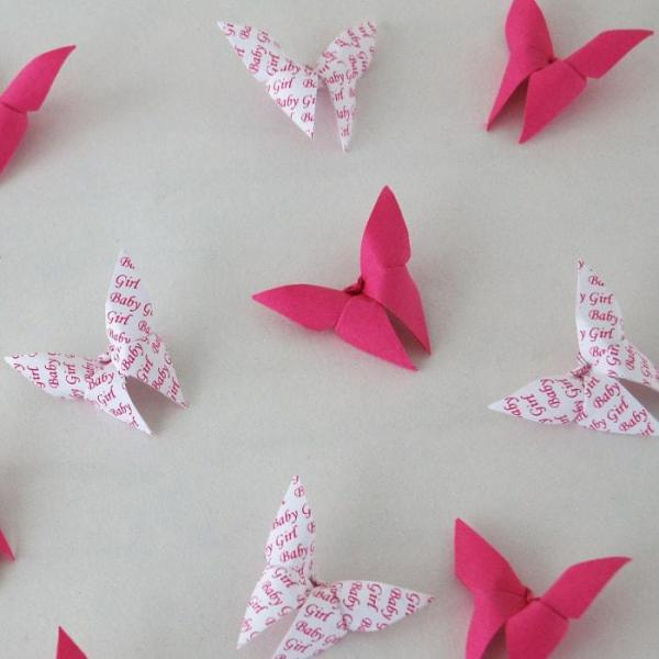 Origami-Butterfly-Baby-Girl-Party-Baby-Shower-Table-Scatters-Confetti-Handmade-Pink-Oast-House-Gifts