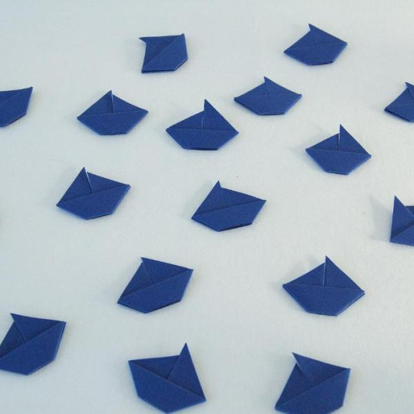 Origami-Sailboat-Wedding-Party-Table-Scatters-Confetti-Handmade-Royal-Blue-Oast-House-Gifts