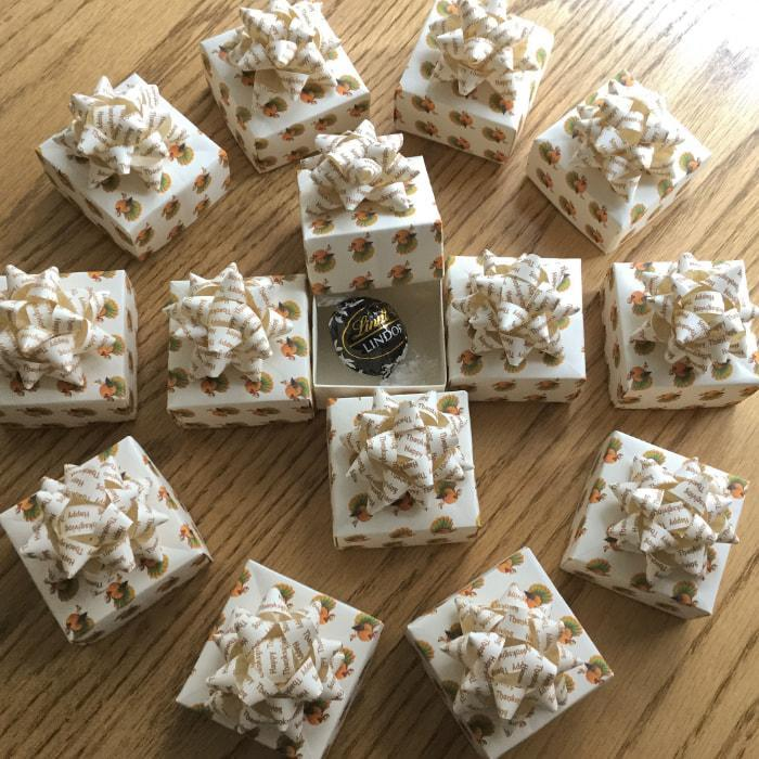 Thanksgiving Party Favour Boxes Handmade By Oast House Gifts