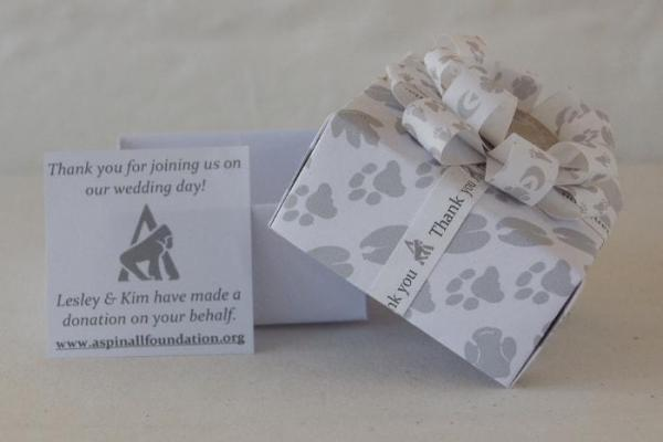 Wedding-Charity-Favour-Boxes-Handmade-Origami-Aspinall Foundation-Donation-Oast-House-Gifts