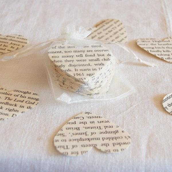 Wedding-Party-Table-Scatters-Paper-Confetti-Hand-Stamped-Hearts-Bookpages-Oast-House-Gifts