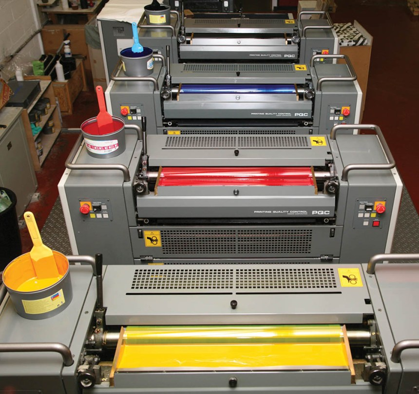4 colour B2 press