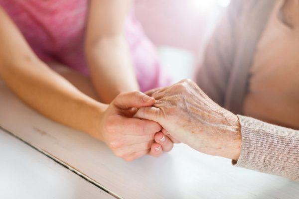 Spiritual care - Holding hands