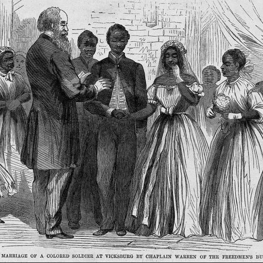 Illustration of African-American Wedding