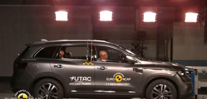 Nowe Renault Koleos zdobywa maksymalną ocenę 5 gwiazdek w teście Euro NCAP
