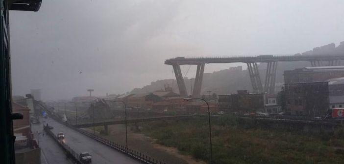 Włochy: zawalił się fragment mostu na autostradzie w Genui