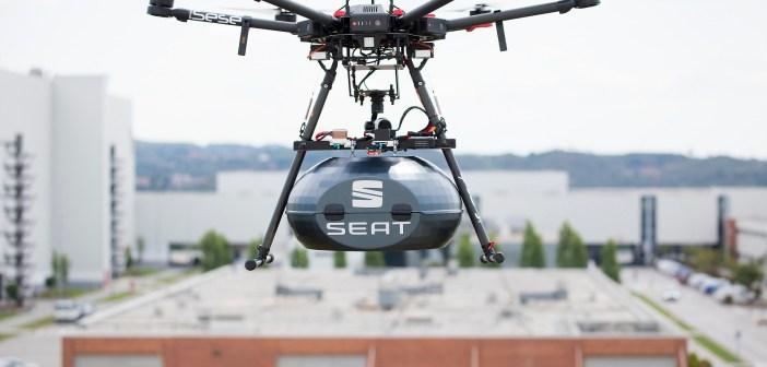 Drony dostarczą części SEAT-a