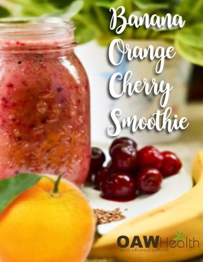 banana orange cherry smoothie