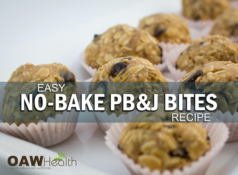 Easy No-Bake PB&J Bites