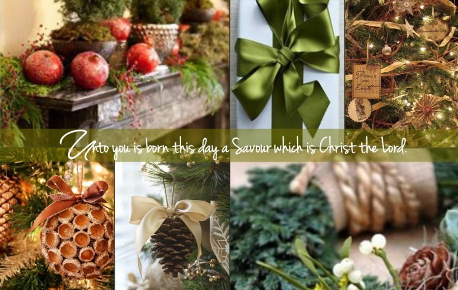 Christmas natural collage