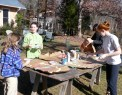 Painting brown paper bags
