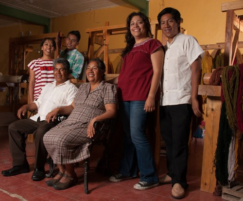 Chavez Family Weavers, portrait by Norma Schafer, 2012