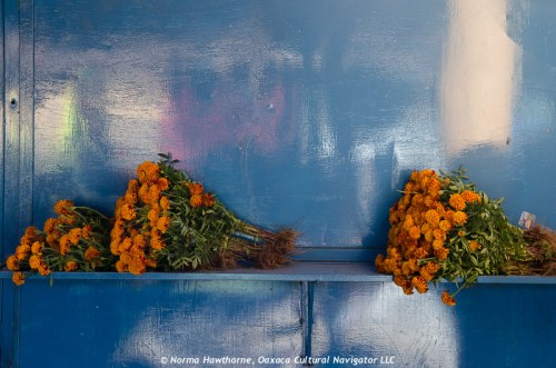Still life with marigolds, Teotitlan del Valle market