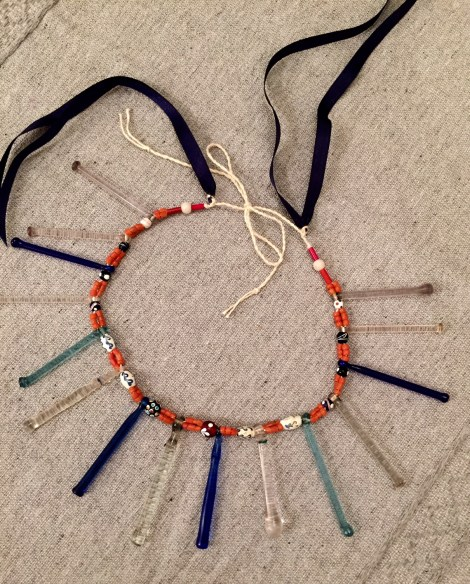San Pedro Quiatoni Necklace, restrung, Norma Schafer Oaxaca Cultural Navigator LLC