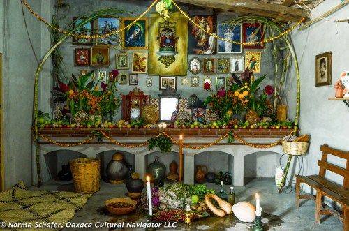 Dia de los Muertos Altar, San Pablo Villa de Mitla