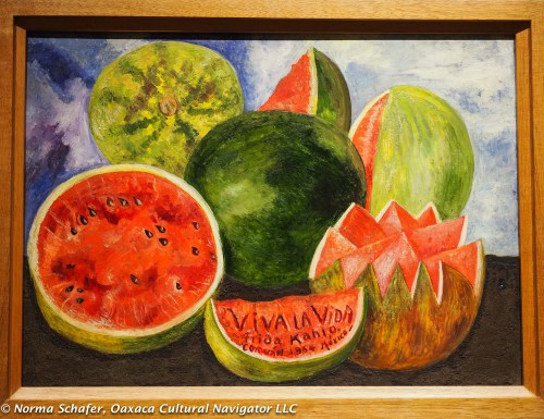 Frida died July 12, 1954 not long after she painted these watermelons