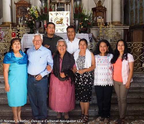 Gloria and Porfirio with wives and husbands of their sons and daughters