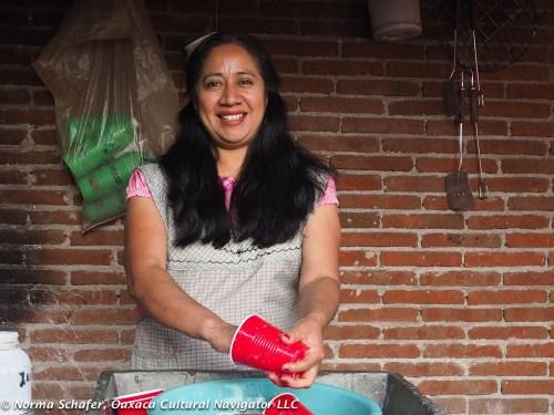Daughter Carina Santiago Bautista, Tierra Antigua Restaurant owner
