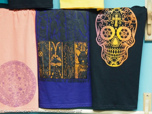 Great graphic T-shirts at La Chicarra graphic workshop