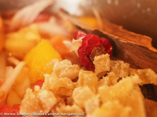 Close-up of the fruit and spice medley