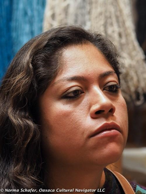 Dye expert Elsa Sanchez Diaz