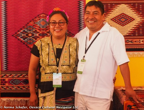 Alejandrina Rios and Tito Mendoza, Teotitlan del Valle weavers