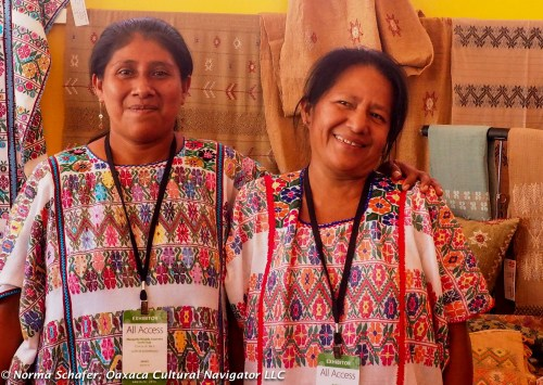 Women from Flor de Xochistlahuaca Amuzgo weaving cooperative