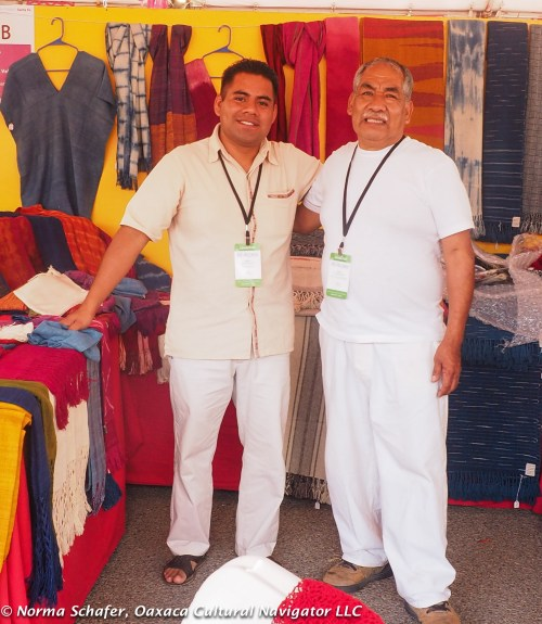 Moises Martinez Velasco (left) and Arturo Hernandez Quiero (right), Oaxaca weavers