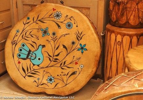Tiwa people of Taos Pueblo are known for drum-making