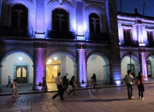 Geri Anderson. Oaxaca Zocalo.