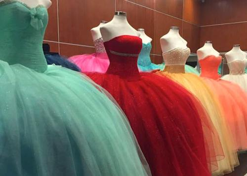 Mary Anne Huff Shaw. Quinceanera dresses, Mexico City.