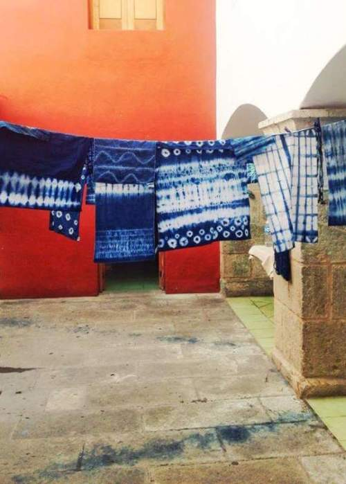 Nena Creasy. Museo Textile de Oaxaca, dyeing with indigo.