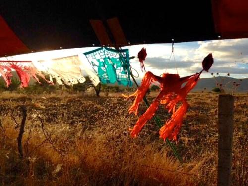 Birthday pinatas and papel picacho, Teotitlan del Valle
