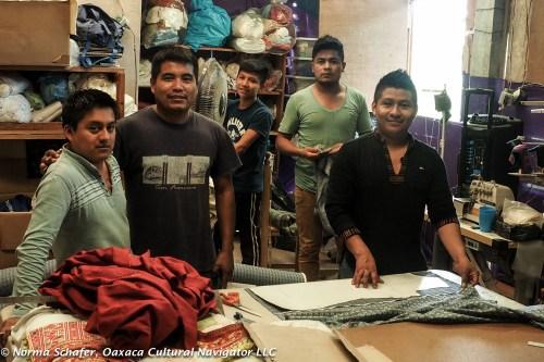 Alfredo Pisarro and crew at Pedro Martin Workshop