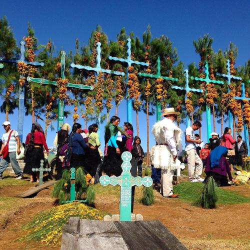 Panteón de Romerillo, municipio de San Juan Chamula, Chiapas, by Ana Paula Fuentes
