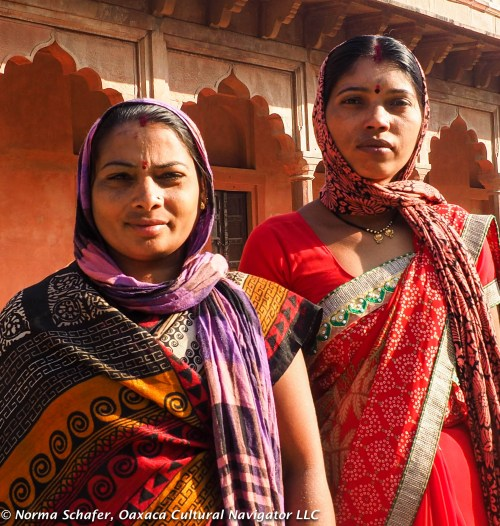 Women visiting from the far north of India.
