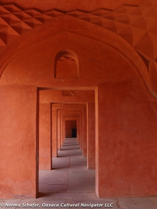Architecture of infinite passageways. Built with local red sandstone.