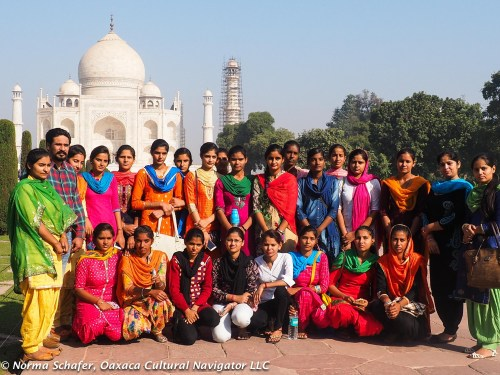 School girls at the Taj Mahal. Lots of school groups come here.