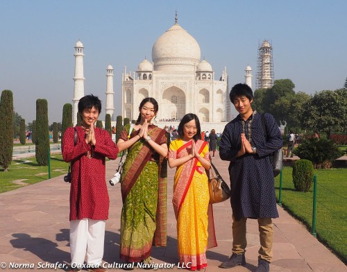 Buddhist tourists from Japan.