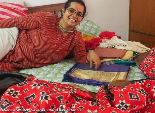 Nidhi Khurana with her saris.